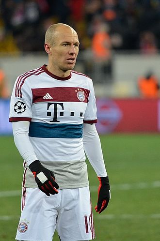 Arjen Robben - Robben playing for Bayern Munich against Shakhtar Donetsk in 2015