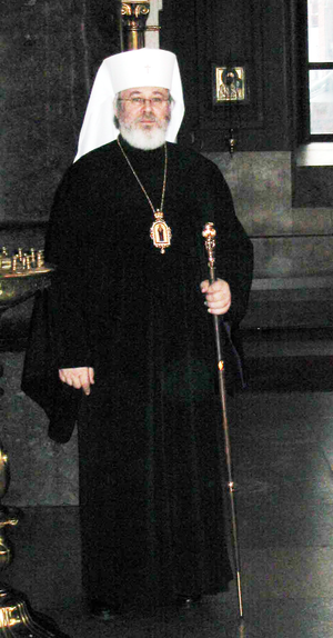 Leo Makkonen - Archbishop Leo at Uspenski Cathedral, Helsinki on Independence Day 2004.