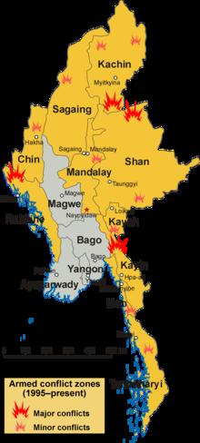 Zone di conflitto armato in Myanmar.png
