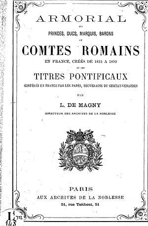 Armorial des comtes romains - Image: Armorial des comtes romains