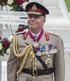 General Sir Nick Carter, 23rd and current Chief of the Defence Staff (Chairman).