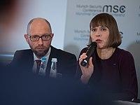 Arsenij Jazenjuk und Kersti Kaljulaid MSC 2017.jpg