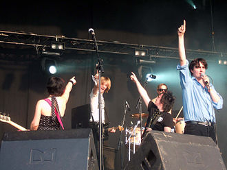 Art Brut - Art Brut in 2006.  From left to right: Feedback, Future, Catskilkin, Breyer (behind), and Argos.