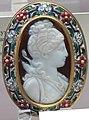 Arte ellenistica, principessa tolemaica assimilata ad artemide, sardonice, ritoccato nel rinascimento.JPG