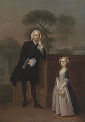 An Unknown Man with His Daughter