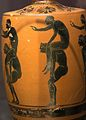 Athenian black-figure lekythos, 525-475 BC, youths, ephedrismos, AshmoleanM, 1890.27, 142577.jpg