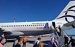 Athens Airport - Aircraft SX-DVK Aegean during boarding (sept 2018).jpg