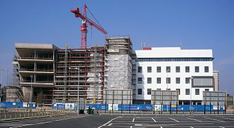 Atrium, Cardiff - Phase 1 during construction in April 2007