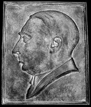 Victor Auburtin - The relief from Auburtin's grave at Partenkirchen, which is no longer existent.