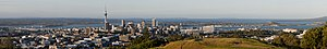 The Skyline of Auckland City, in the foregroun...