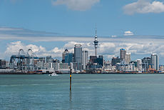 Auckland Skyline as seen from Devonport 100128 2.jpg