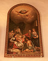 Auderville Parish Church Saint Gilles Nave Painting Nativity of Mary 2010 08 30.jpg