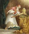 August Kraus Pius V verehrt den Gekreuzigten.jpg
