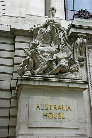 High Commission of Australia, London - Detail of Australia House, London, UK