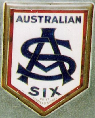 Australian Six - Radiator badge.