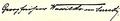 Autograph des G. Wassilko v. Serecki, 29.3.1918.png
