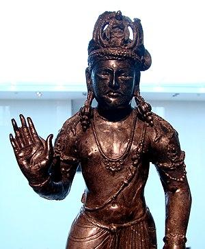 Guanyin - Early Indian statue of Avalokitasvara Bodhisattva. Gandhāra, 3rd century