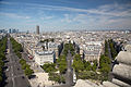 Avenue Carnot from the Arc de Triomphe, Paris 2 August 2015.jpg