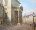 Axel Johansen - Sommerdag foran Slotskirken ved Christiansborg - 1928.png