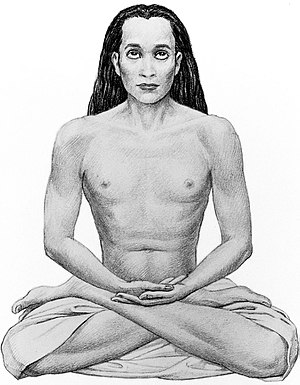 Lotus position - Mahavatar Babaji in Lotus position
