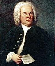 Johann Sebastian Bach in 1746, oil painting by Elias Gottlob Haußmann