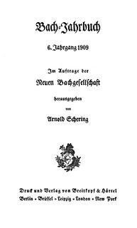 <i>Bach-Jahrbuch</i> annual musicological journal