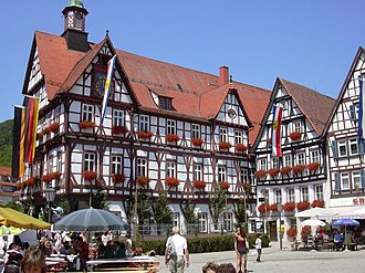 Bad Urach - Market square and town hall