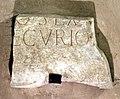 Badia a settimo, cripta del IX secolo, iscrizione frammentaria romana.jpg
