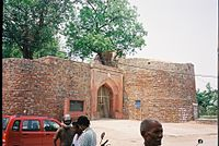 Bahadur Shah Zafar gate to the Salimgarh Fort.JPG