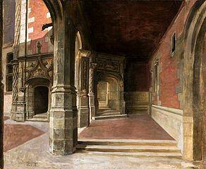 Arcades of the Blois Castle.