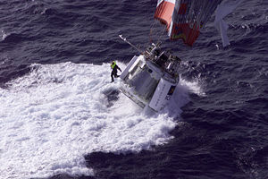 Per Lindstrand - A 1998 attempt at an around-the-world balloon flight by Branson, Fossett, and Lindstrand ends in the Pacific Ocean on December 25, 1998.