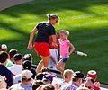 Baltimore Orioles fans dancing on dugout (7356646332).jpg