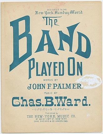 The Band Played On - Sheet music cover
