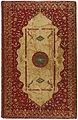 Band van rood marokijn en met opgelegd wit papier-KONB12-163B9.jpeg