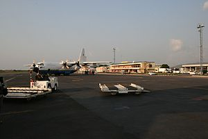 Bangui M'Poko International Airport - Airport tarmac.