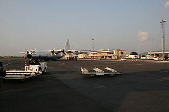 Bangui M'Poko International Airport - Airport tarmac.