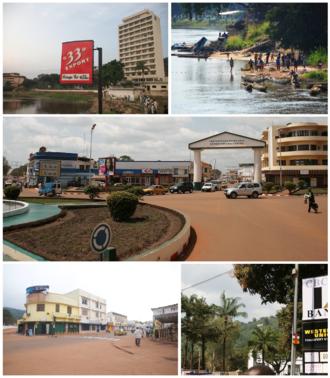 Bangui - Image collage of Bangui