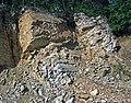 Baraboo Quartzite (upper Paleoproterozoic, ~1.7 Ga; Rt. 12 roadcut, South Range, Baraboo Ranges, Wisconsin, USA) 5 (18622106729).jpg