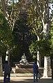 Barcelona - Parc de la Cuitadella - View NW on Font De La Guineu Fountain 1882 by Eduard B. Alentorn.jpg