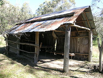 Oxley Wild Rivers National Park - Restored early 20th century Bark Hut constructed by the Brennan family for mustering trips