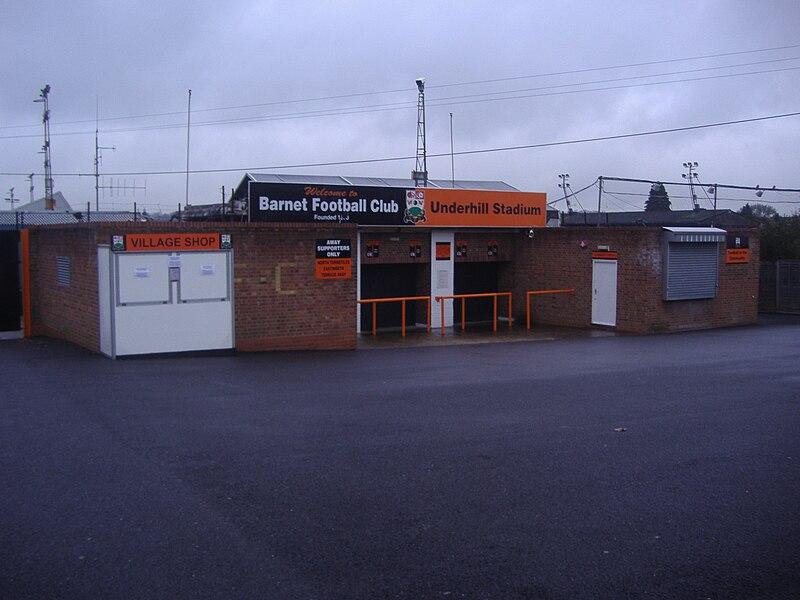 File:Barnet FC Underhill entrance.jpg