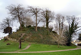 Barnstaple - Barnstaple Castle Mound, 11th century, next to the current day public library and car park