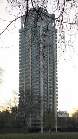 Basil Spence Hyde Park Barracks from park.jpg