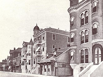 Hilma Burt - Basin Street, New Orleans. Hilma Burt's brothel is the second building from the left