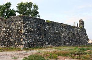 Batticaloa fort - Image: Batticaloa Portuguese fort
