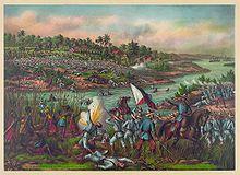 Un dipinto raffigurante la guerra filippino-americana.