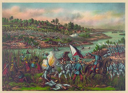 A depiction of the Battle of Paceo during the Philippine-American War. Battle of Paceo.jpg