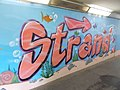 Beach, street art 2016 at Fonyód train station in Hungary.jpg