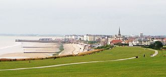 Bridlington - Bridlington Beach from the north shoreline