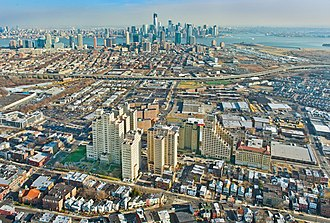 Beacon, Jersey City - Aerial photo of The Beacon in Jersey City, New Jersey